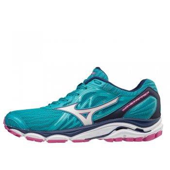 buty mizuno wave inspire 14 w biało-błękitne
