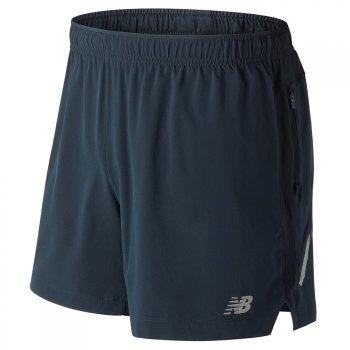 spodenki new balance impact 5 inch shorts m szaro-granatowe