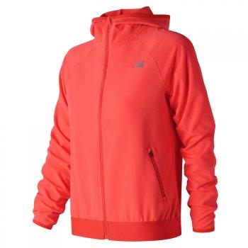 kurtka new balance acceleratetrack jacket flm w koralowo-pomarańczowa