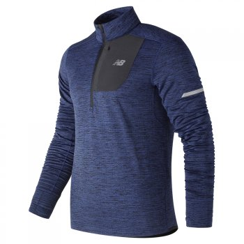 bluza new balance heat quarter zip mt83246tbh m granatowa