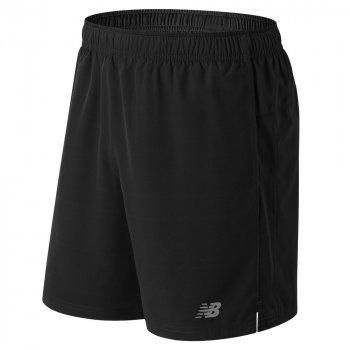 spodenki new balance core 7in woven shorts bkms81918bk m czarne