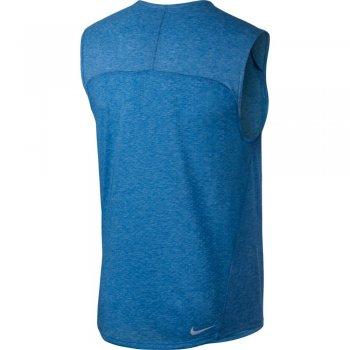 koszulka nike rise 365 sleeveless top m błękitna