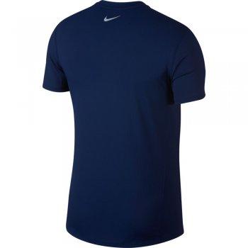 koszulka nike dri-fit miler cool short-sleeve top m granatowo-niebieska