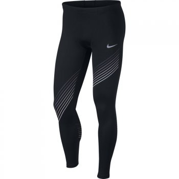 legginsy nike run graphic tights m czarne