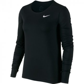 bluzka nike pro long sleeve training top w czarna