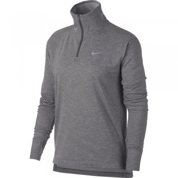 bluzka nike therma-sphere half-zip top w szara