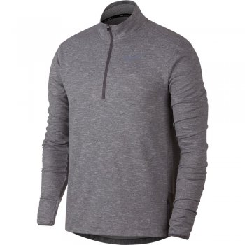 bluza nike therma-sphere half zip top m szara