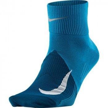 skarpety nike elite lightweight quarter socks m szaro-niebieskie