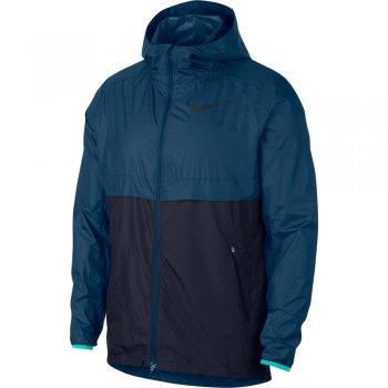 kurtka nike shield running jacket m granatowo-niebieska
