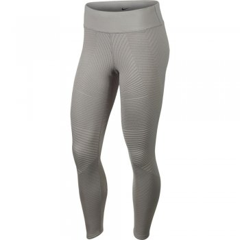 legginsy nike epic lux texture mid-rise tights w jasno-szare