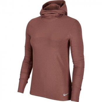 bluza nike element hoodie w pudrowo-brązowa