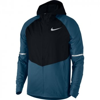 nike zonal aeroshield hooded running jacket m niebiesko-czarna