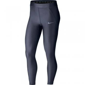 legginsy nike speed 7/8 running tights w granatowe