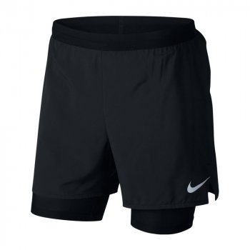 spodenki nike distance flex stride 2-in-1 shorts 5 inch m czarne