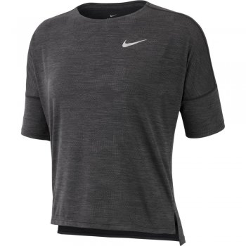 koszulka nike dri-fit medalist short-sleeve top w grafitowo-czarna