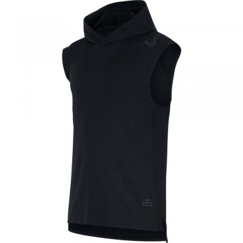 bluzka nike run division element sleeveless hoodie m czarna