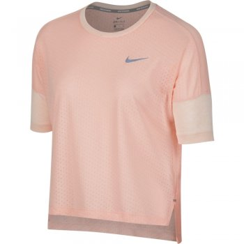 koszulka nike tailwind short-sleeve top w pudrowa
