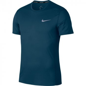 koszulka nike dri-fit miler cool ss top m ciemno-niebieska