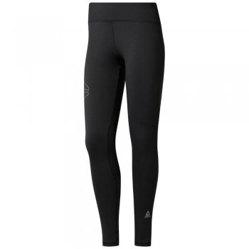 legginsy reebok running reflective tights w czarne