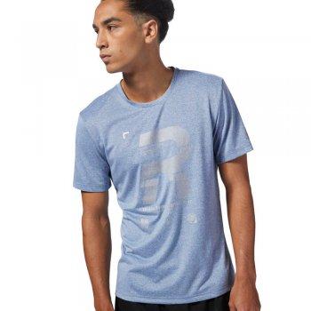 koszulka reebok running reflective tee m niebieska