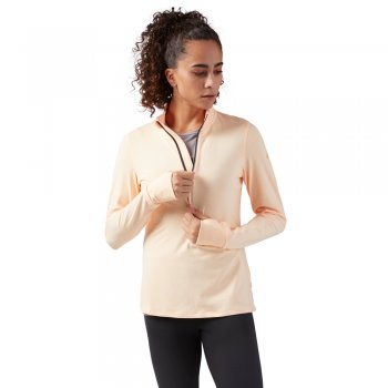 bluza reebok quarter zip running jacket w piaskowa