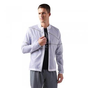 kurtka reebok run hero jacket m biała