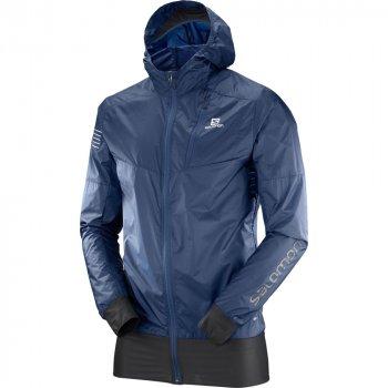 kurtka salomon fast wing hybrid jacket m niebieska