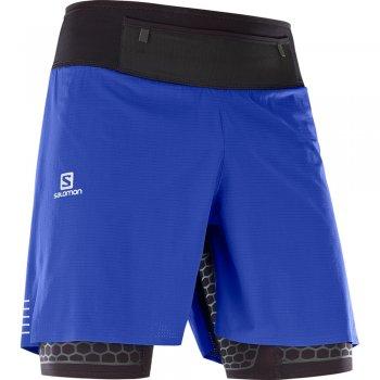 spodenki salomon exo twinskin shorts m czarno-niebieskie