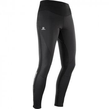 legginsy salomon trail runner windstopper tight w czarne