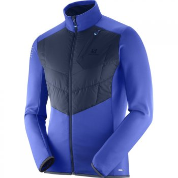 kurtka salomon pulse warm jacket m niebieska-403822
