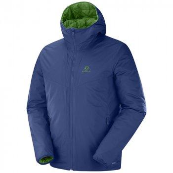 kurtka salomon drifter loft hoodie m ciemno-niebieska zielona