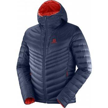 kurtka salomon haloes down hoodie m czerwono-granatowa