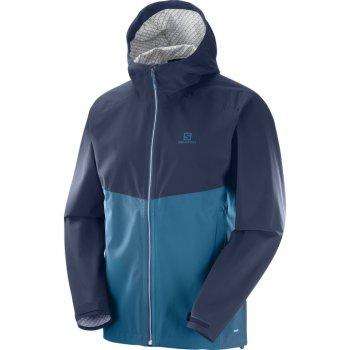 kurtka salomon la cote flex 2.5l jacket m granatowo-niebieska
