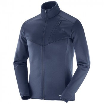 bluza salomon discovery fz m night sky heather