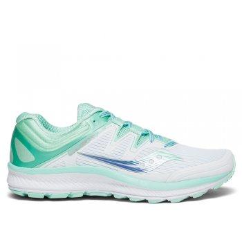 buty saucony guide iso w morska zieleń białe