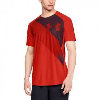 koszulka under armour vanish short sleeve m czerwona