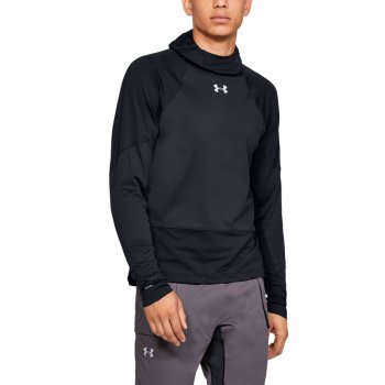 bluza under armour ua coldgear reactor windstopper balaclava m czarna