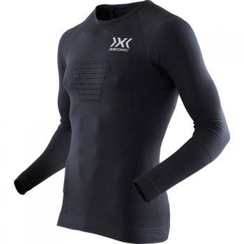 bluza x-bionic speed evo running shirt long m czarna