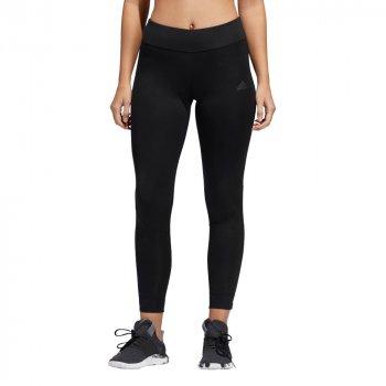 legginsy adidas own the run tights w czerwono-czarne