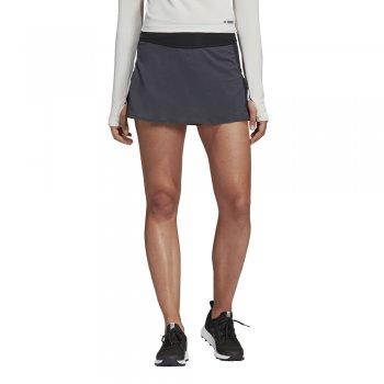 spódnica adidas terrex agravic two-in-one skort w czarno-szara
