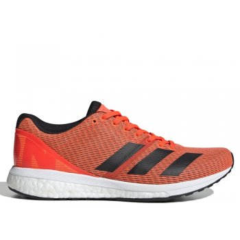 buty adidas adizero boston 8 w czerwono-pomarańczowe