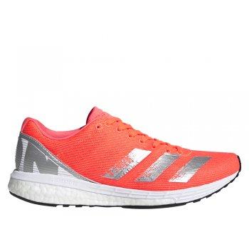buty adidas adizero boston 8 w pomarańczowo-srebrne