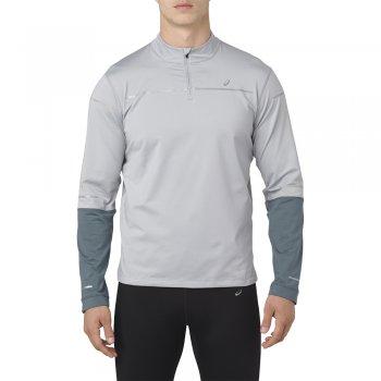 bluza asics lite-show long sleeve 1/2 zip shirt m szara