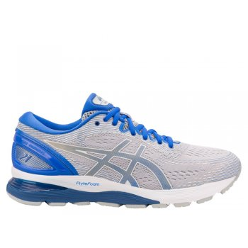 buty asics gel-nimbus 21 lite-show m niebiesko-srebrne