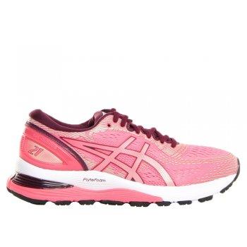 buty asics gel-nimbus 21 w bordowo-różowe