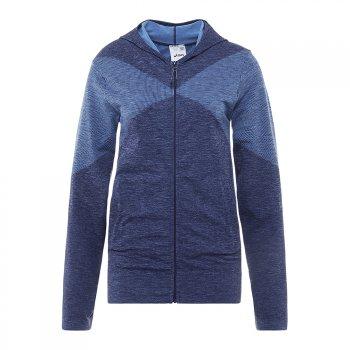 bluza asics seamless fz hoodie w indygo