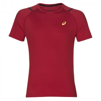 koszulka asics icon ss top m czerwona