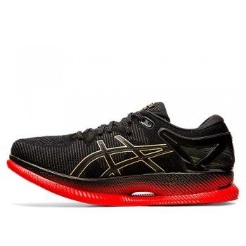 buty asics metaride w czarno-czerwone