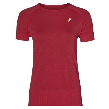 koszulka asics seamless ss texture w czerwona