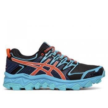 buty asics gel-fujitrabuco 7 w czarno-niebieskie